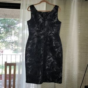 NWOT BR Black and Silver Cocktail Dress